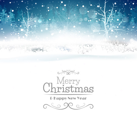 Illustration for Christmas greeting card with place for your text - Royalty Free Image