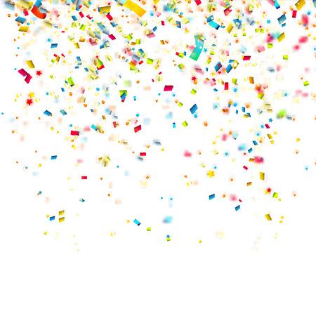 Illustration pour Birthday background with colorful confetti - image libre de droit