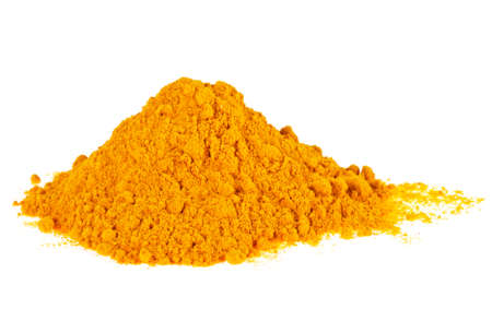 Foto de Turmeric (Curcuma) powder isolated on a white background - Imagen libre de derechos