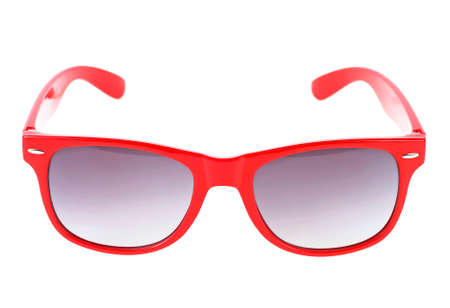 Foto de Women's red sunglasses isolated on white background - Imagen libre de derechos