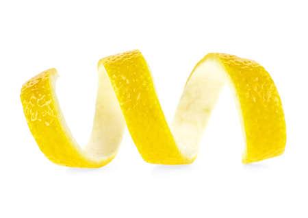 Photo pour Lemon peel isolated on a white background - image libre de droit