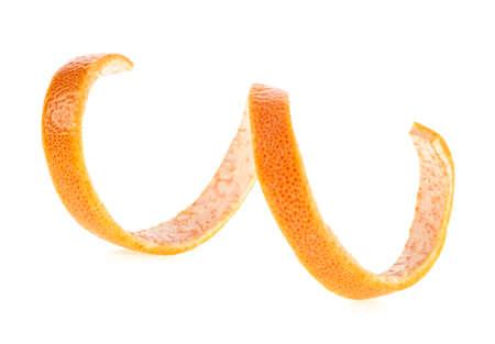 Photo pour Grapefruit peel isolated on white background - image libre de droit