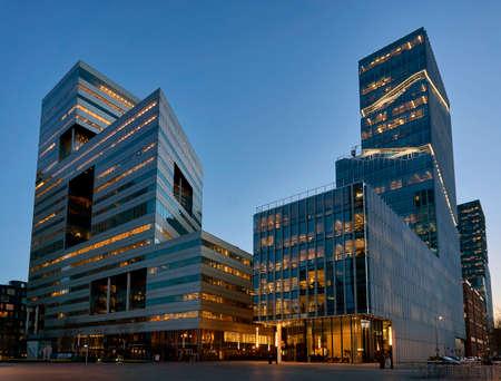 Photo pour Zuidas business district of Amsterdam - image libre de droit