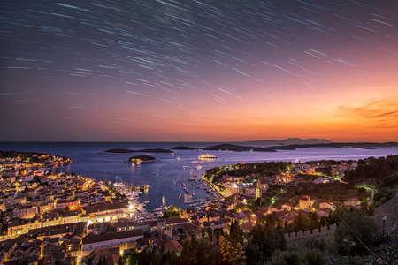 Photo pour Day turns to night in Hvar - image libre de droit