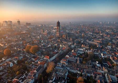 Foto de Aerial of Utrecht city center - Imagen libre de derechos