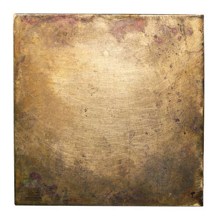 Brass plate texture, old metal background