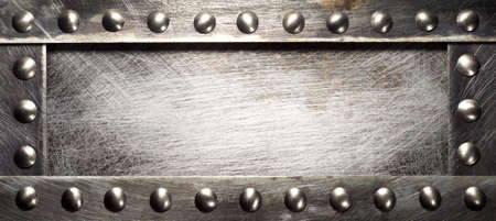 Metal plate texture with rivets