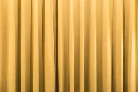 Photo for Curtain background detail with waves in warm tone - Royalty Free Image