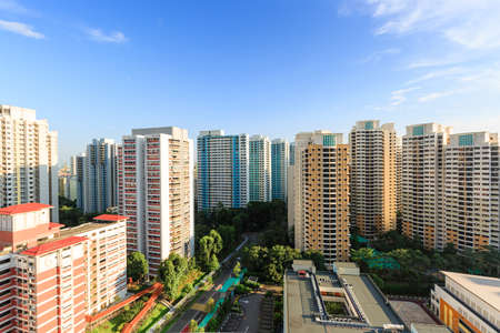 Photo for Singapore residential area Aerial view in day time - Royalty Free Image