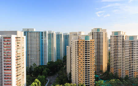 Photo pour Singapore residential area Aerial view in day time - image libre de droit