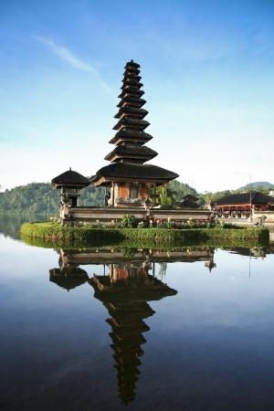 Photo for Beautiful Pura Ulun Danu temple on lake brataan bali indonesia at dawn - Royalty Free Image