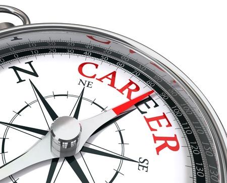 Photo pour career the way indicated by compass conceptual image - image libre de droit