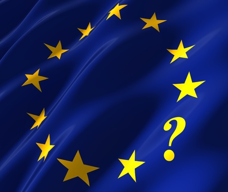 eu flag with questionmark instead of star