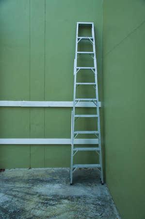 Aluminum step ladder in home