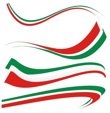 Illustration pour set italian flag  - image libre de droit