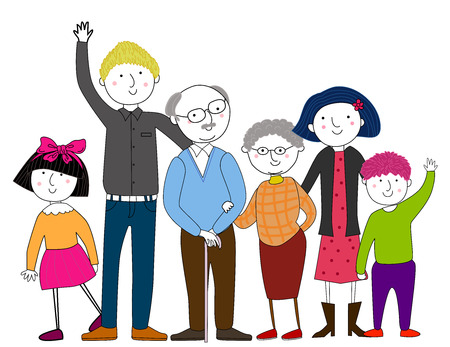 Illustration for Big family - Royalty Free Image