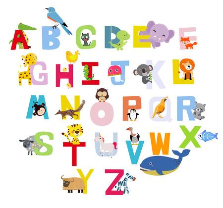 Illustration pour Animals alphabet - image libre de droit