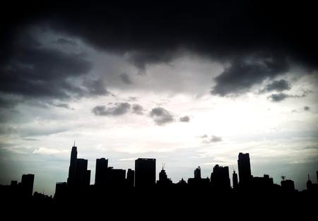 Photo pour Silhouette of Bangkok City ,Thailand. - image libre de droit
