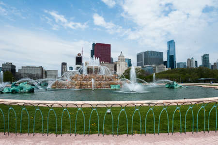 Buckingham Fountain in Chica mural