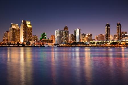 Foto de San Diego Skyline Long Exposure - Imagen libre de derechos