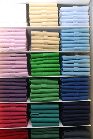 T-shirts in different colors