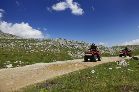 quad weel drivers relax and ride on height mountain and fresh air