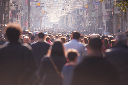Foto de people crowd walking on busy street on daytime - Imagen libre de derechos