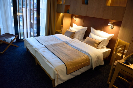 Photo for Interior of modern comfortable hotel room - Royalty Free Image