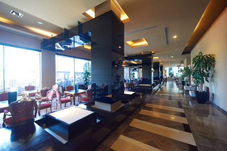 Photo for luxury business hotel lobby interior with modern design - Royalty Free Image
