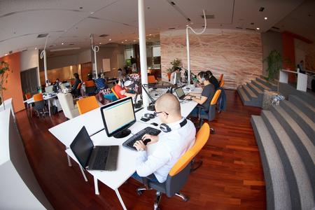 Foto de startup business people group working everyday job  at modern office - Imagen libre de derechos