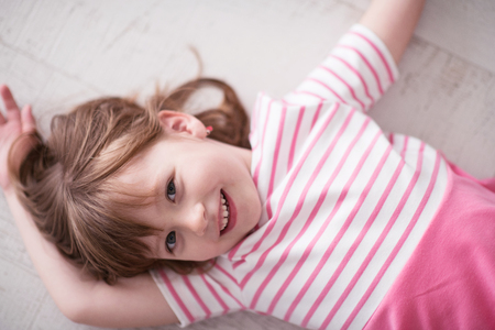 Photo for portrait of happy smiling child at home while playing - Royalty Free Image