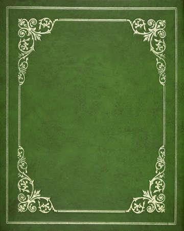 Photo pour Green leather book cover - image libre de droit