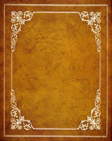 Photo pour Brown leather book cover - image libre de droit