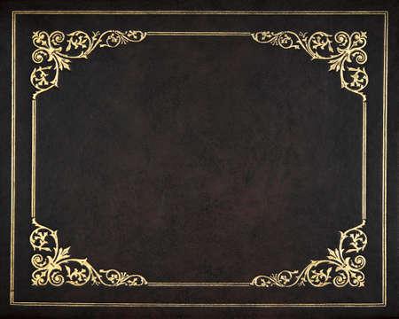 Photo pour Dark leather book cover - image libre de droit