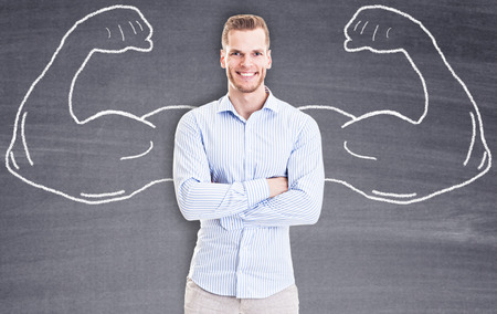 Photo for Strong Businessman - Royalty Free Image