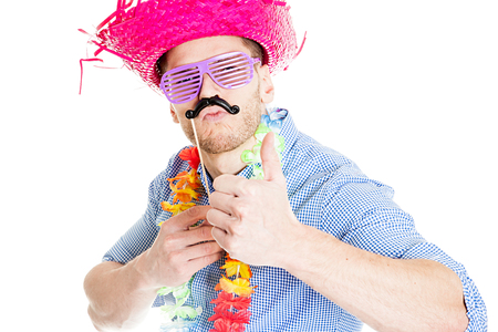 Photo for Crazy Young Party Man - Photo Booth Photo - Royalty Free Image
