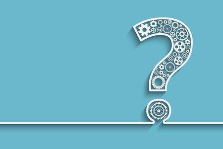 Illustration pour Creative Question mark with gears.  vector for your design - image libre de droit