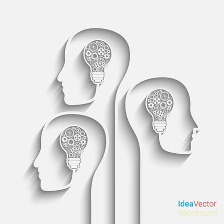 Foto de Human head creating a new idea.  vector for your design - Imagen libre de derechos