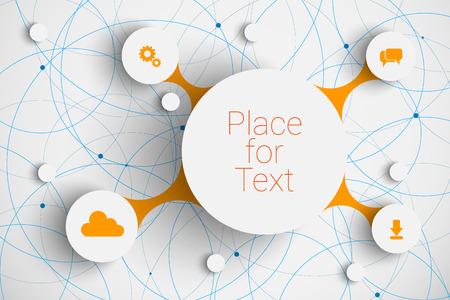 Ilustración de abstract  infographic network template with place for your content - Imagen libre de derechos