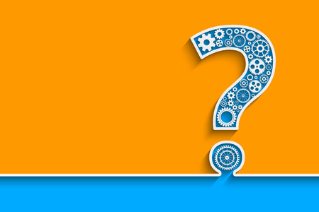 Illustration pour Creative Question mark with gears. Eps10 vector for your design - image libre de droit