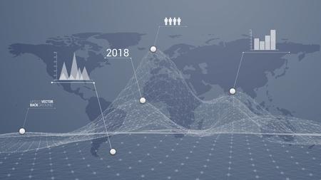 Illustration pour infographic world destination - image libre de droit