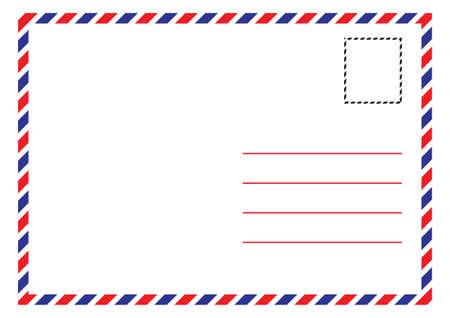 Illustration pour Envelope Air Mail Par Avion Letterhead Envelope Icon in trendy flat style - image libre de droit