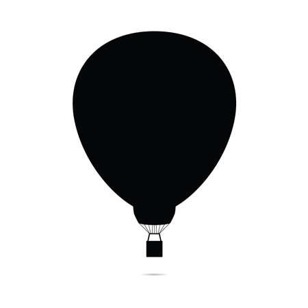 Illustration pour hot air balloon vector silhouette icon on white - image libre de droit