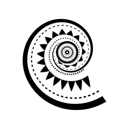 Ilustración de Maori style spiral tattoo design - Imagen libre de derechos