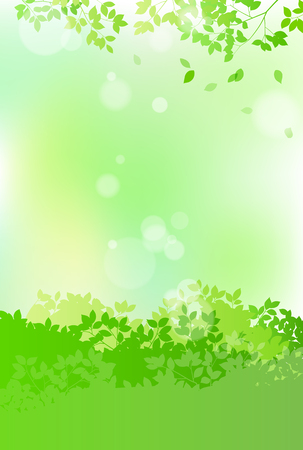 Illustration pour Fresh green and sun leaves landscape - image libre de droit