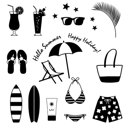 Ilustración de Summer food and drink - Imagen libre de derechos