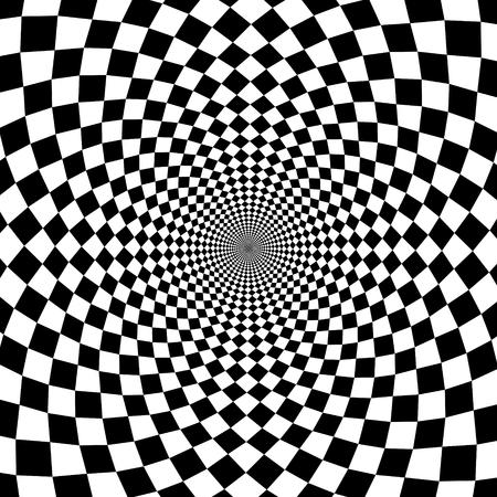 Illustration pour Vector optical illusion zoom black and white background - image libre de droit