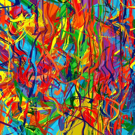 Ilustración de Art rainbow color splash brush strokes paint abstract vector background 6 - Imagen libre de derechos