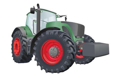 Illustration pour Agricultural tractor with big wheels vector illustration - image libre de droit