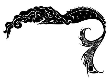 Illustration pour mermaid vector silhouette - image libre de droit